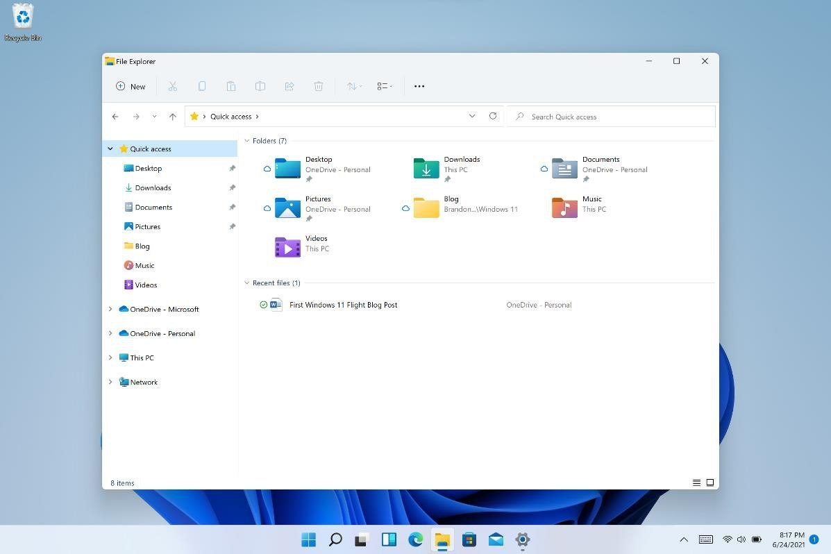 File Manager Windows 11 Insider Preview