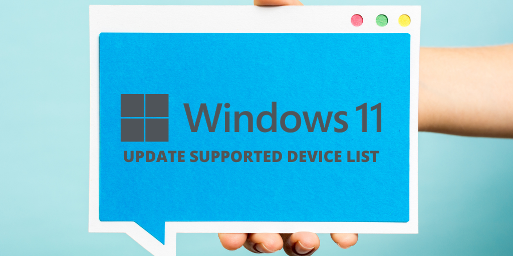 Windows 11 Update Supported Devices